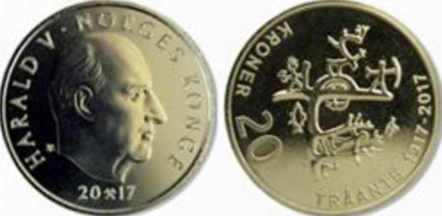 Банком Норвегии выпущена в обращение памятная монета, посвященная 100-летию первого конгресса саамов