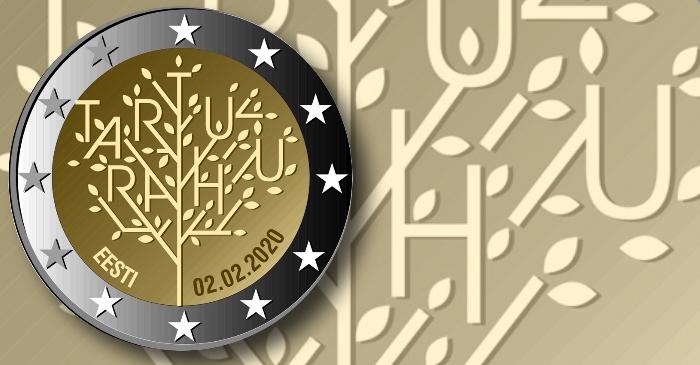 Эстония выпускает обиходную монету, посвященную Тартускому мирному договору
